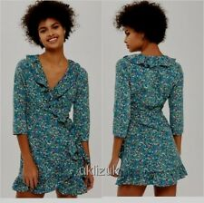 BNWT Topshop Floral Garden Ruffle Wrap Dress - Size 10