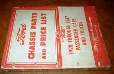 1928-1930 1931 32-1933 1934 1935 1936 1937 Ford Chassis Parts Catalog Car Truck