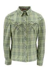 Simms Women's Big Sky LS Shirt ~ Island Green Plaid NEW ~ Closeout Size Medium