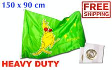 Boxing Kangaroo | Heavy Duty Flag | Aussie AU OZ Australian Outdoor Garden Large