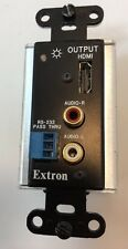 Extron DVI HDMI 201 A D Input Output RX TX RS-232 Audio Connector Wall Outlet
