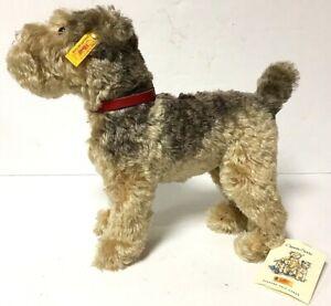 "Steiff Classic 1935 Replica Fellow Schnauzer Terrier Dog Mohair 11"" EAN 035012"