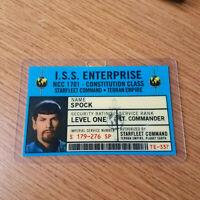 Star Trek Classic Id Badge-Mirror Mirror ISS Enterprise Spock