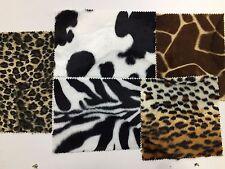 FAUX FUR FABRIC Animal Print Pony Skin Velboa Soft Dress Upholstery Material