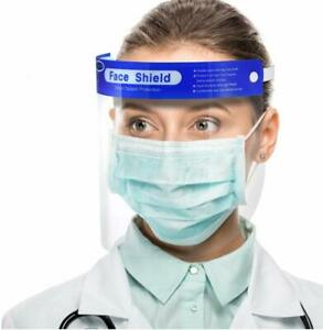 Face Shield with Foam - Full Face Protection Washable Visor Screen - Reusable