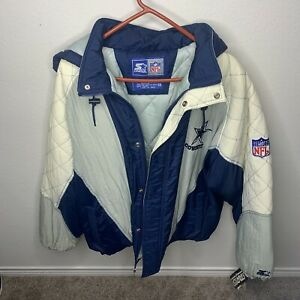 NFL ProLine Authentic Apparel Starter Dallas Cowboys Zip Snap Jacket NWT 2XL