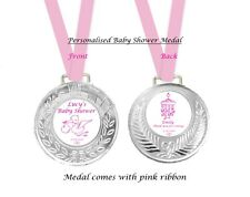 2 x Personalised Baby Shower Party Medals Favors Favours FREE DELIVERY