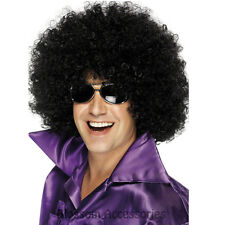 W322 Adult Afro Huge Mega Black Wig 1970s 80s Disco Costume Party Curly Wig