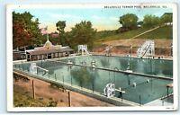 Belleville Turner Swimming Pool Belleville Illinois Vintage Postcard C77