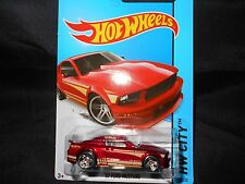 HW HOT WHEELS 2014 HW CITY #95/250 '07 FORD MUSTANG HOTWHEELS DK RED VHTF RARE