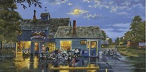 "Dave Barnhouse "" Sam's Place "" Signed  (( W/ Harley Logo's )) Very Rare Mint"