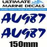 Boat Rego 150mm Modern Registration Sticker Decal Set of 2