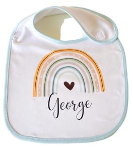 Personalised Rainbow ~ Baby bib new baby boy/girl gift