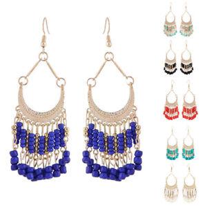 Fringe Earrings Long Tassel Beaded Earrings Hippie Bohemian Boho Tribal Gypsy