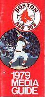 1979 Boston Red Sox Baseball Media Guide ~ Carl Yastrzemski, Jim Rice, Fred Lynn