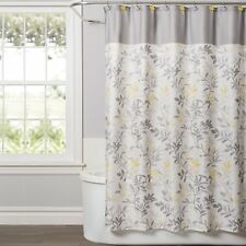 Trellis Shower Curtain, 72 x 72, Stone Easy To Clean 12 Button-Holes