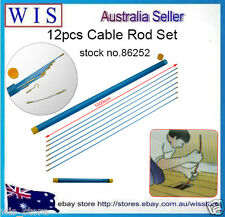 10m Φ 4mm Fiberglass Electrical Wire Coaxial Cable Running Rods Kit, Fish Tape