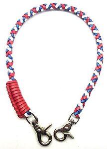 Biker chain braided leather Heavy Duty Trucker style Chain wallets made in USA