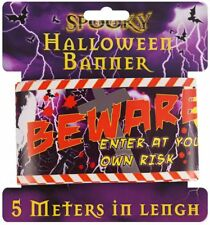 Halloween Warning Tape Banner - 5m x 7.5cm - Party Decoration Printed Night