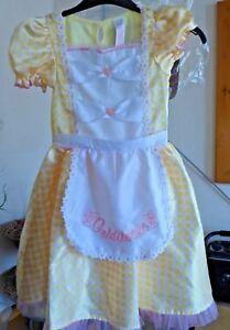 Goldilocks fancy dress- yellow dress & hand bear prop - age 5-6 yr ( 116cm)-new