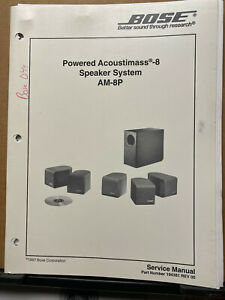 Service Manual for the Bose Acoustimass 8 Powered Speaker System AM-8P 1997