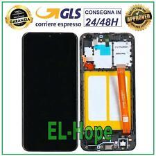 DISPLAY LCD PARI ORIGINALE SAMSUNG GALAXY A20E SM A202F TOUCH SCHERMO VETRO NERO