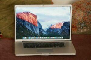 "Apple MacBook Pro A1297 17"" Laptop mid 2009 C2D, 4GB RAM, 500GB HDD"