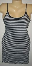 Abercrombie & Fitch - LARGE NAVY & WHITE STRIPE - COTTON STRETCH RIBBED LONG TOP