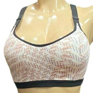Victorias Secret Incredible Sport Max Support Flex Wire Sports Bra White Multi