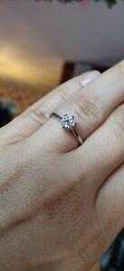 Platinum GIA  0.50ct D VVS1 Round Brilliant Cut Diamond Ring