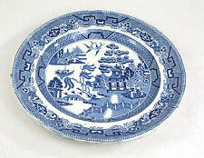 Antique Blue Willow Plate J. Genuine Stone China 26 cm c.1830-40s