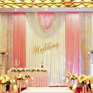 3*6M Coral wedding backdrop decoration event party fabric sequin curtain