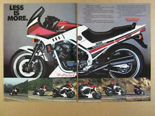 1984 Honda VF500F Interceptor 500 motorcycle photo vintage print Ad