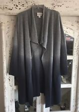 Pure DKNY Grey Ombre Long Waterfall Cardigan S/P BNWOT RRP £200