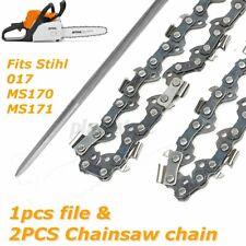 2Pcs 14'' 0.050'' 50DL Chainsaw Chain Saw Semi Chisel for Stihl 017 MS170 MS171