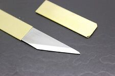 Right Hand Japanese knife Kiridashi Craft Pocket knife Brass Made in Japan