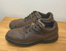 Rockport MWT17 World Tour Classic Walking Shoes Brown Nubuck Mens 8 W Wide $100