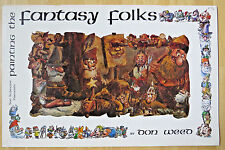 DON WEED PAINTING THE FANTASTY FOLKS SUE SCHEEWE OIL WATERCOLOR INK BOOKLET