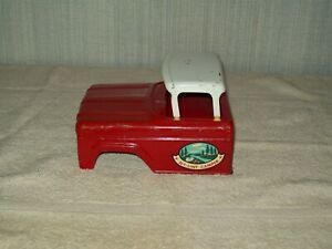 NYLINT 1960'S FORD SERIES TRUCK RED WHITE CAMPER CAB ASSEMBLY #1