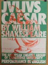 ✤ Affiche Originale 1970-75 ✤ JULIUS CAESAR ✤ Shakespeare ✤