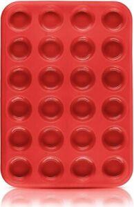 Moule à pâtisserie rectangulaire silicone 24 gateaux cannelés muffins cupcakes