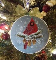 When Cardinals Appear Blackberry Lane Cross Stitch Pattern