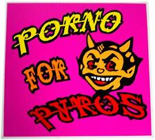 VTG 90s PORNO FOR PYROS Decal STICKER Devil Logo Jane's Addiction Perry Farrell