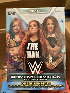 2019 TOPPS WWE WOMENS DIVISION BOX 1 HIT NEW SEALED