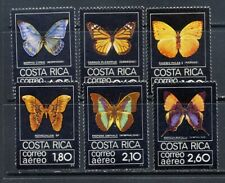 Costa Rica valuable Butterfly airmail set Scott C759-64 mnh vf 53.00