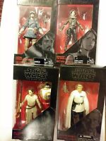 Lot Of 4 Star Wars The Force Awakens Black Series 6 Inch Action Figure new