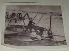 Vintage Hawaiian Paradise Postcard Inter-Island Airways Hawaiian Airlines