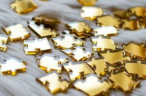 Gold Impossible Jigsaw Puzzle Acrylic 10x10 100 pieces