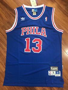 Wilt Chamberlain 13 Philadelphia 76ers Swingman Throwback Jersey Blue Size S-XXL