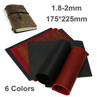 Vintage 1.8-2mm Thick Hide Cowhide Leather Wallet Bag Notebooks Craft
